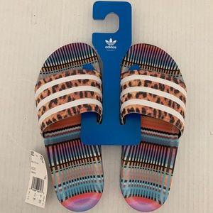 Womens adidas x FARM Adilette Slide Sandal
